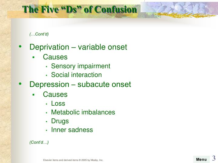 "The Five ""Ds"" of Confusion"