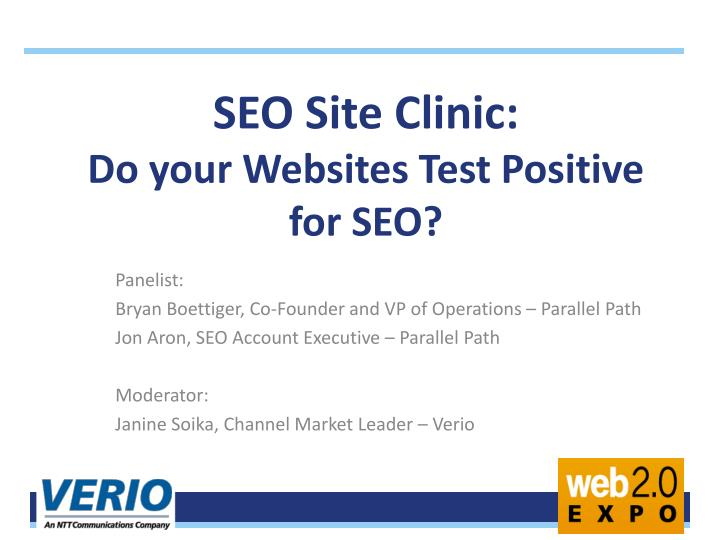 Seo site clinic do your websites test positive for seo
