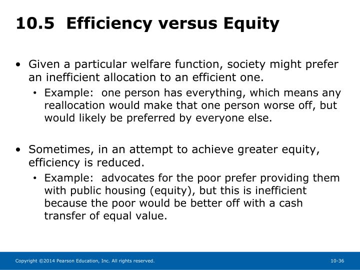 10.5  Efficiency versus Equity