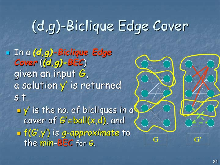 (d,g)-Biclique Edge Cover