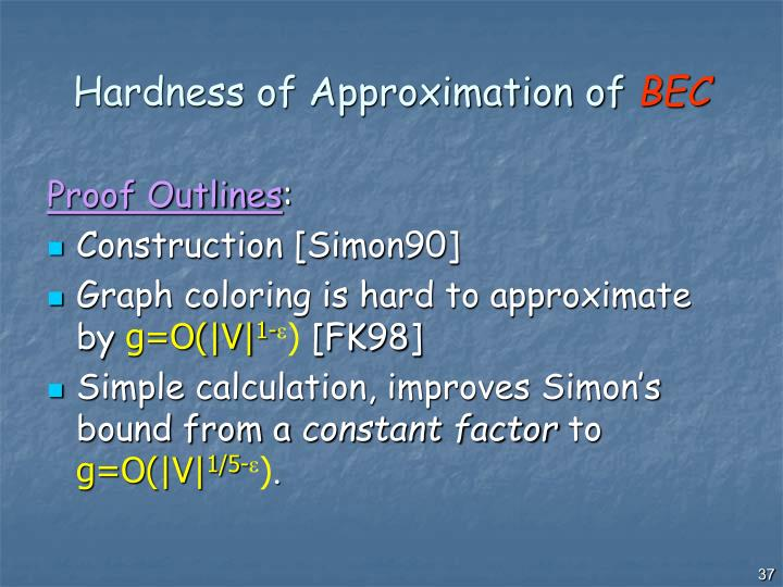 Hardness of Approximation of