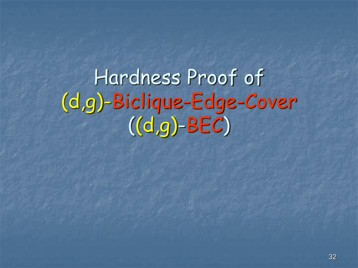 Hardness Proof of