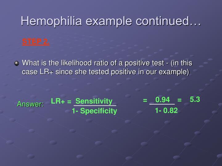 LR+ =  Sensitivity