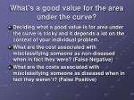 what s a good value for the area under the curve