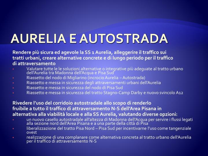AURELIA E AUTOSTRADA