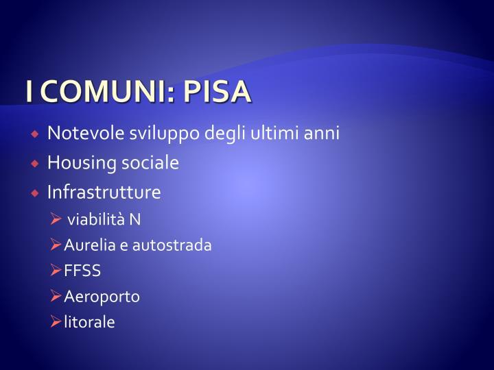 I COMUNI: PISA