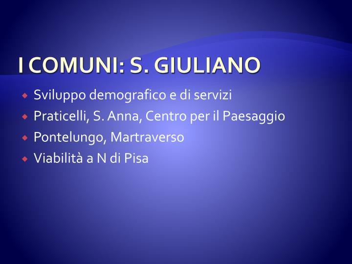 I COMUNI: S. GIULIANO