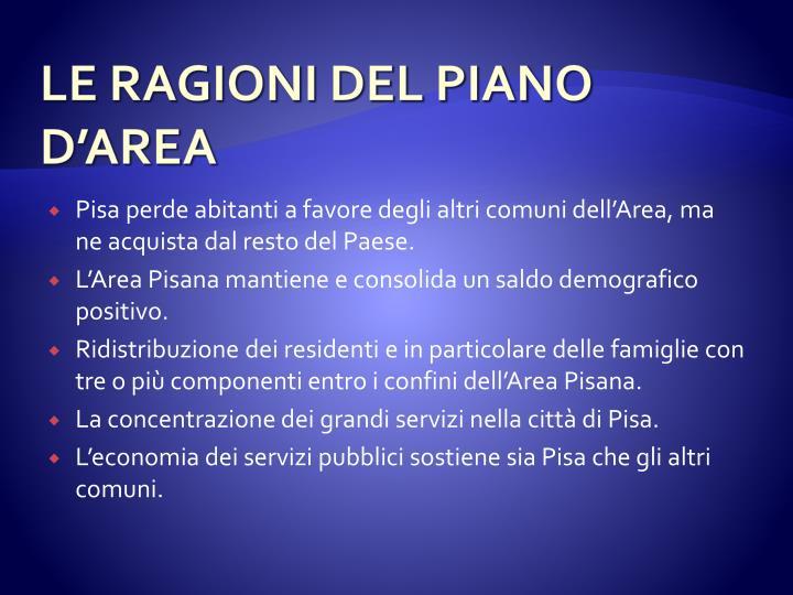 LE RAGIONI DEL PIANO
