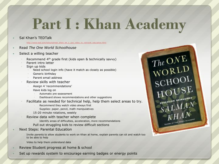 Part i khan academy