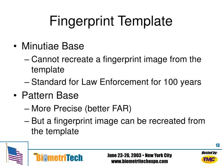 Fingerprint Template