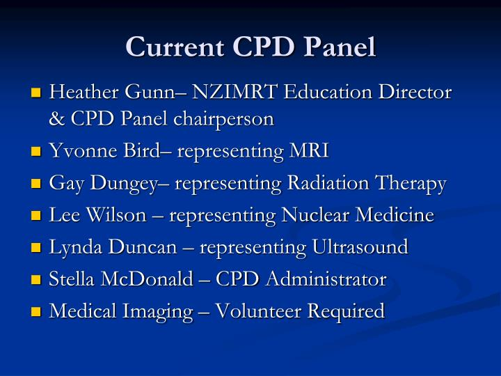 Current CPD Panel