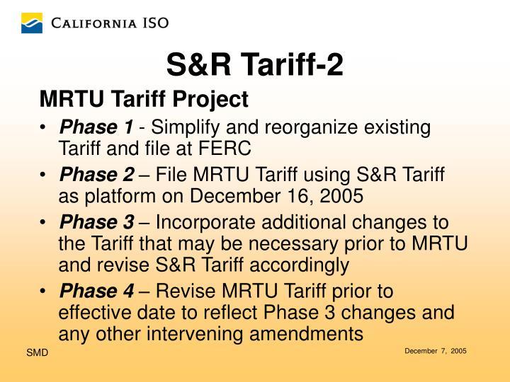 MRTU Tariff Project