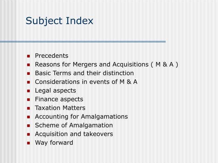 Subject index
