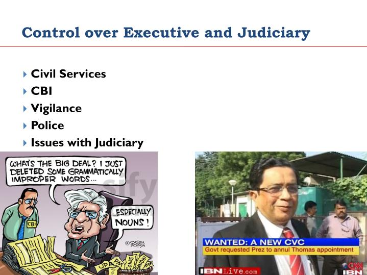 Control over Executive and Judiciary