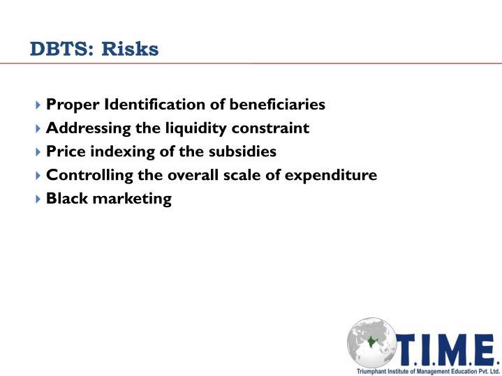 DBTS: Risks