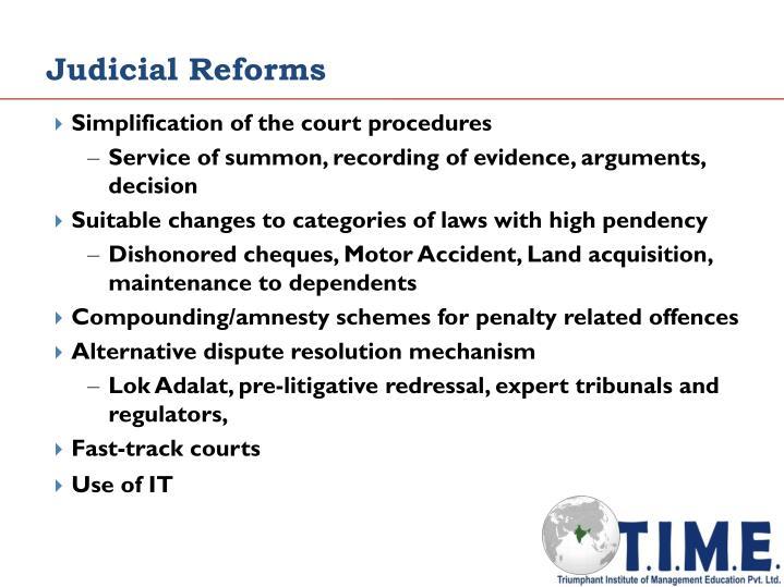 Judicial Reforms