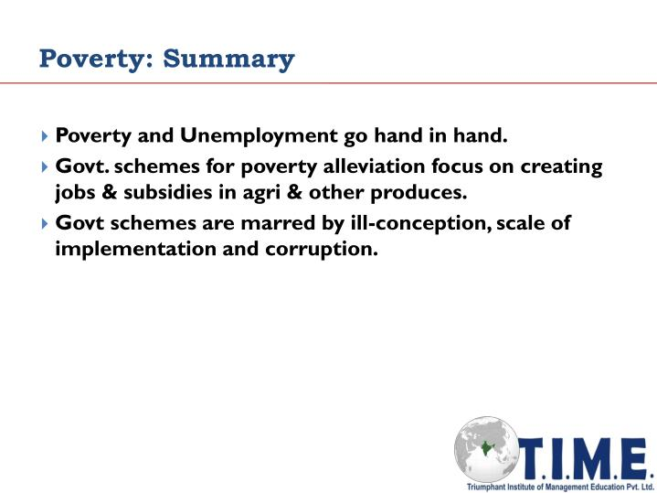 Poverty: Summary