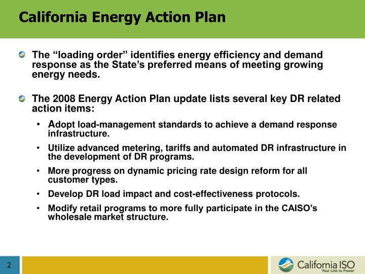California Energy Action Plan