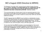 mc s august 2005 directive to mrwg