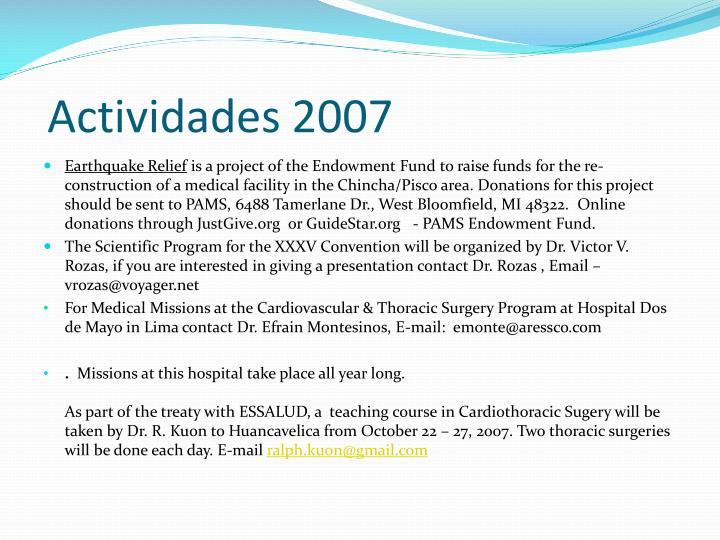 Actividades 2007