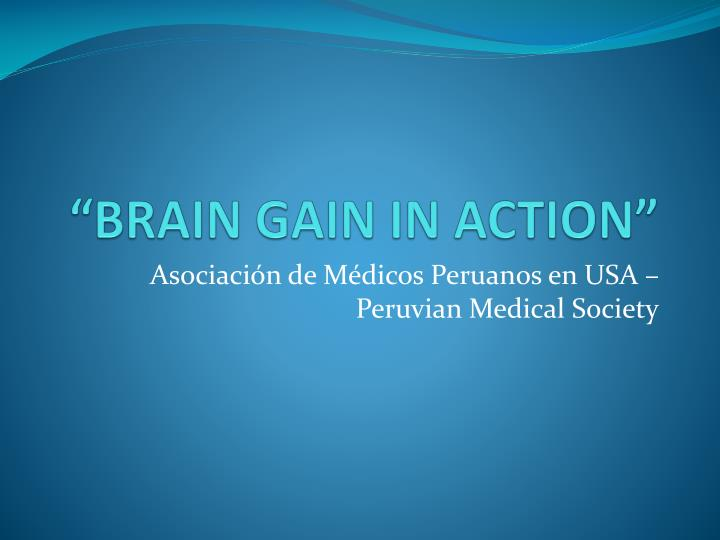 """BRAIN GAIN IN ACTION"""