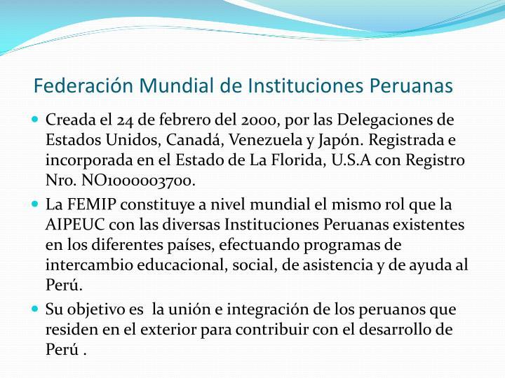 Federación Mundial de Instituciones Peruanas