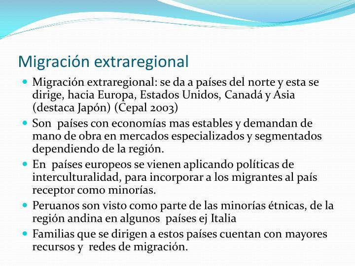 Migración extraregional