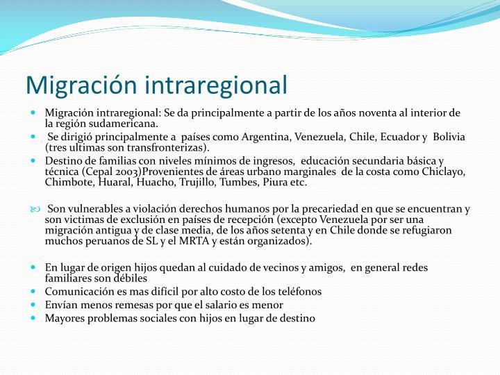 Migración intraregional