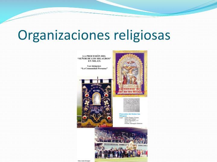 Organizaciones religiosas