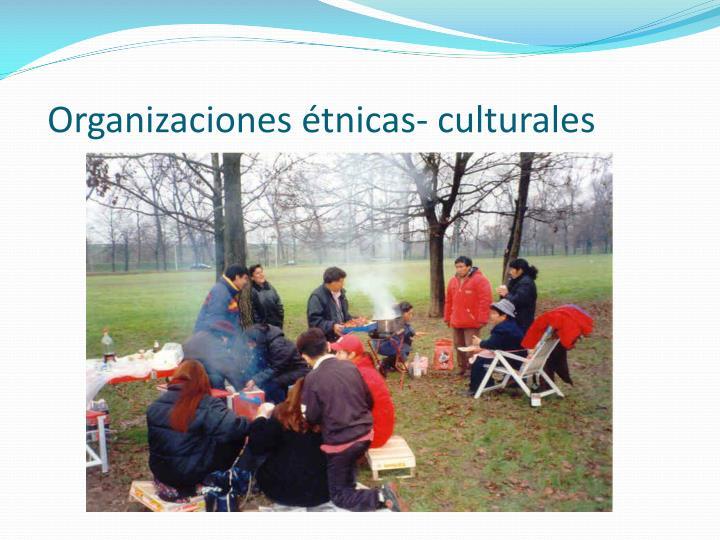 Organizaciones étnicas- culturales
