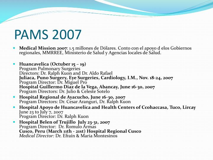 PAMS 2007