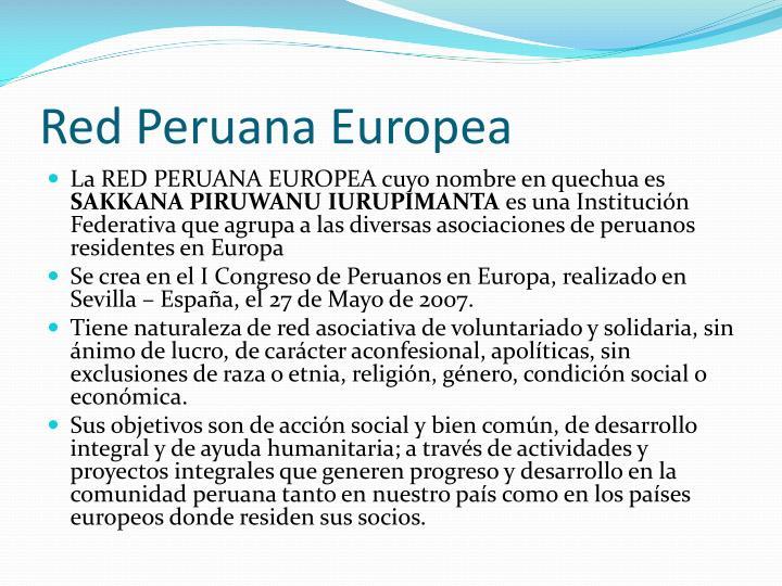 Red Peruana Europea