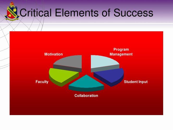 Critical Elements of Success