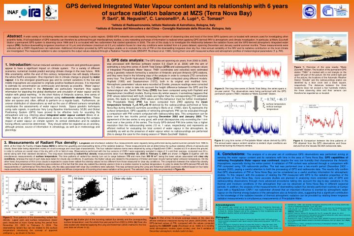 GPS derived Integrated Water Vapour content and its relationship with 6 years