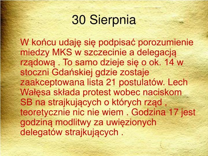 30 Sierpnia