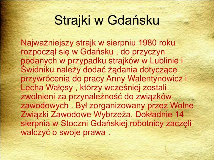 Strajki w Gdańsku