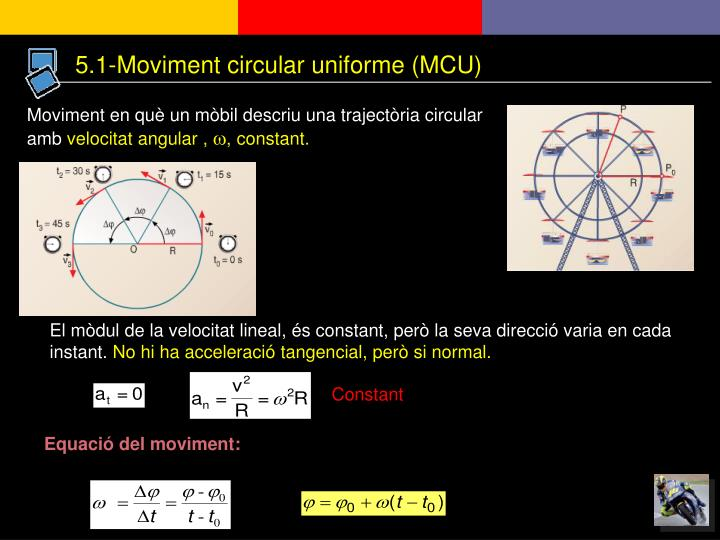 5.1-Moviment circular uniforme (MCU)