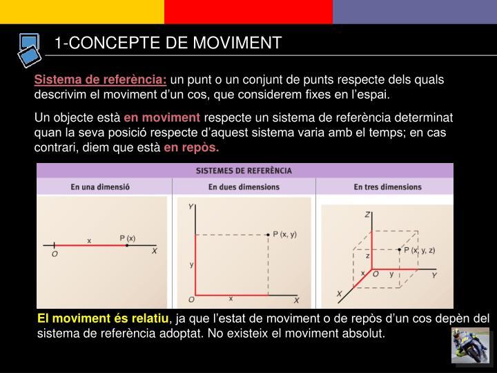 1-CONCEPTE DE MOVIMENT