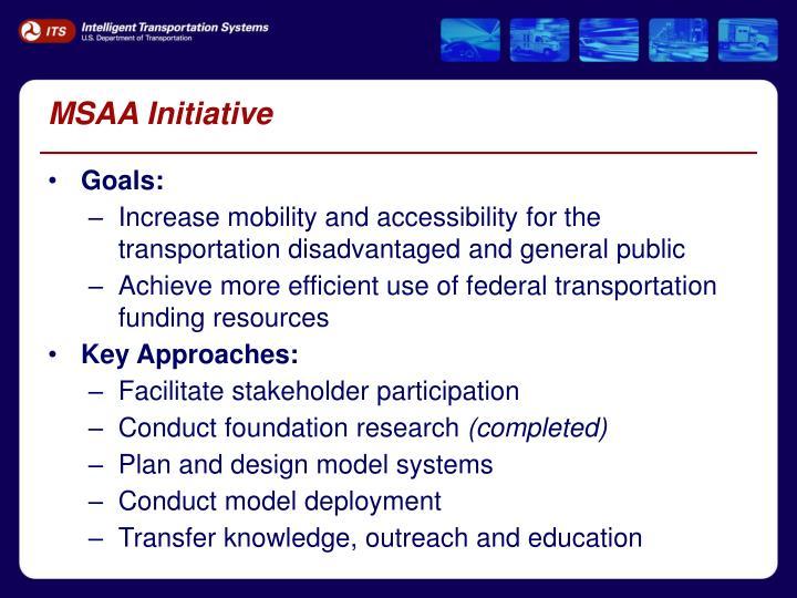 MSAA Initiative