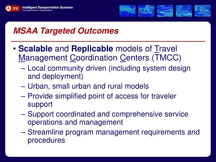MSAA Targeted Outcomes