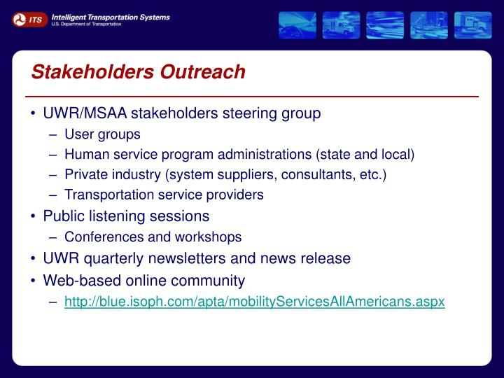 Stakeholders Outreach
