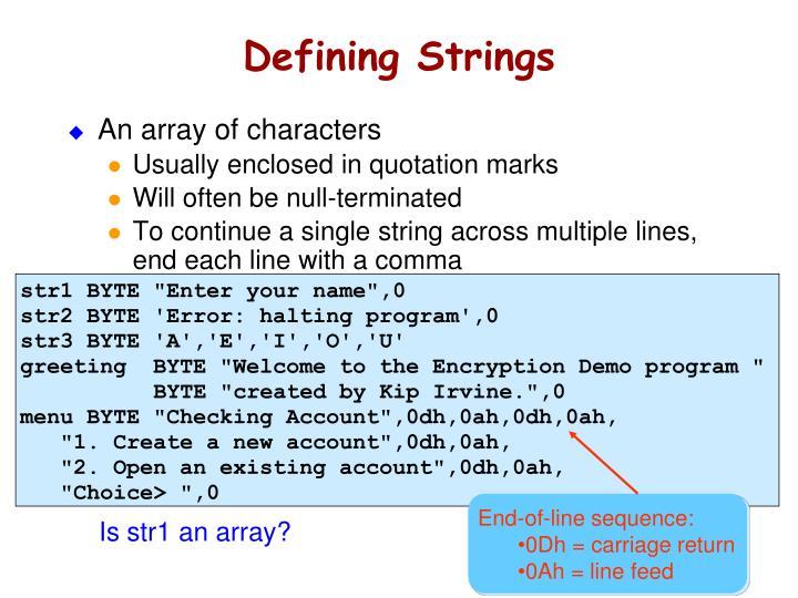 Defining Strings