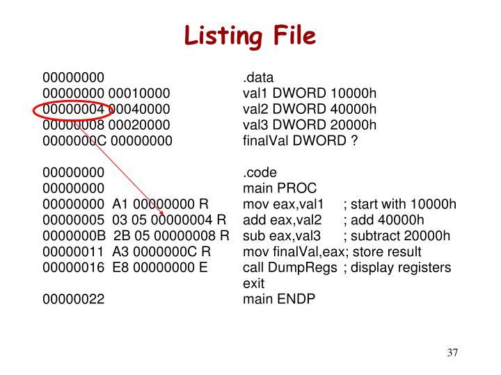 Listing File