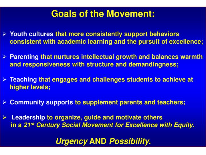 Goals of the Movement: