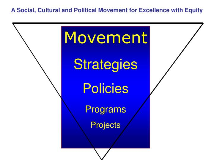 A Social, Cultural and Political Movement for Excellence with Equity