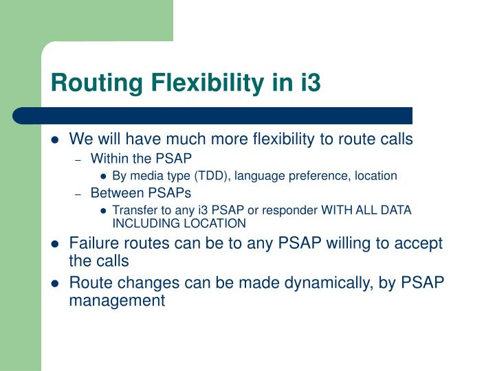 Routing Flexibility in i3