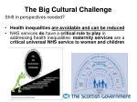 the big cultural challenge