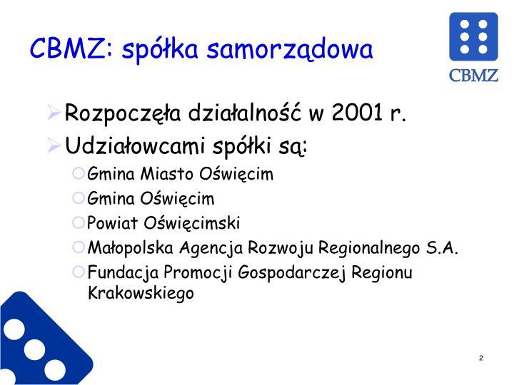 CBMZ: spółka samorządowa