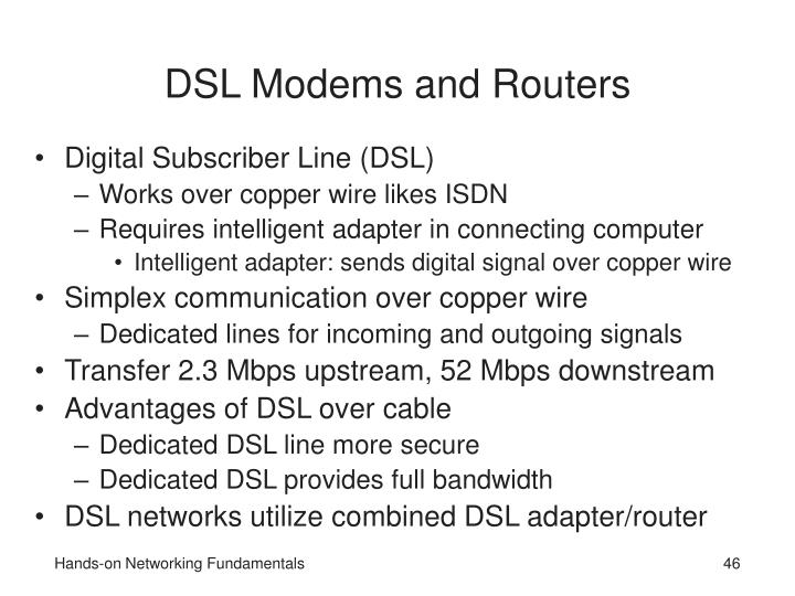 DSL Modems and Routers