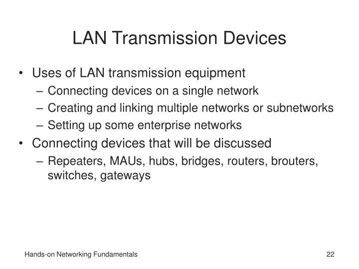 LAN Transmission Devices